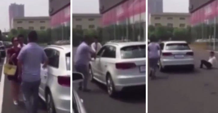 SM37 Stroppy Woman Steals Audi From Forecourt When Boyfriend Refuses To Buy It