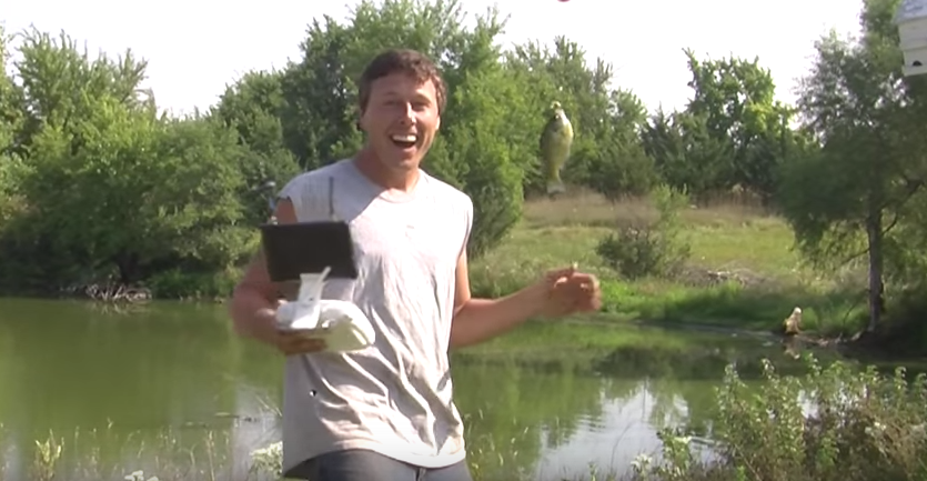 UNILAD 12 Watch This Guy Catch A Fish Using His Drone