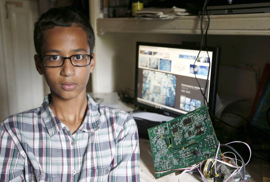 %name Muslim Lad, 14, Arrested For Taking Bomb Into School, Except It Was Homemade Clock