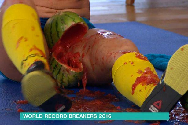 Woman Crushes Watermelons Between Her Thighs On This Morning UNILAD This Morning 24