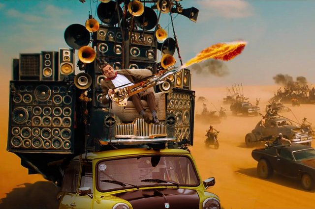 UNILAD bean mad max8 640x426 After Parading Around On His Car Mr Bean Gets Photoshopped