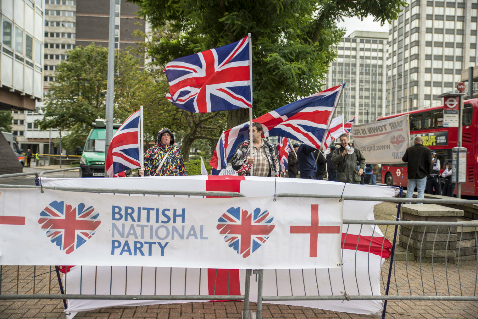 UNILAD bnp5 BNP Held A Rally In Croydon And No One Showed Up