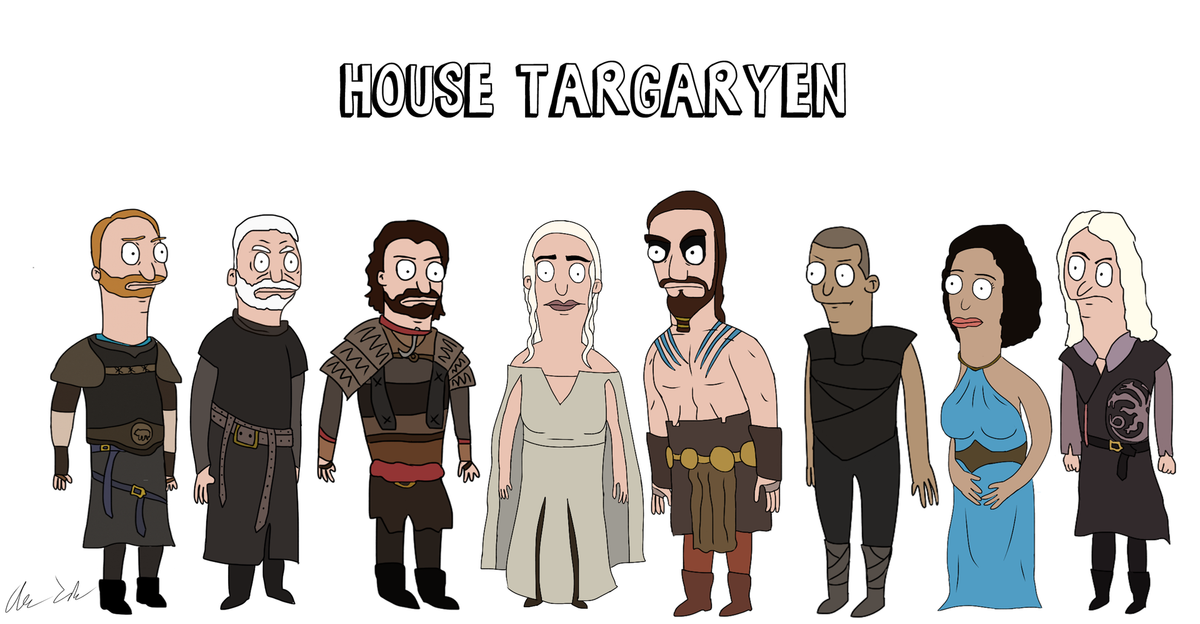 Someone Has Drawn Game Of Thrones Characters In The Style Of Bobs Burgers UNILAD burg34