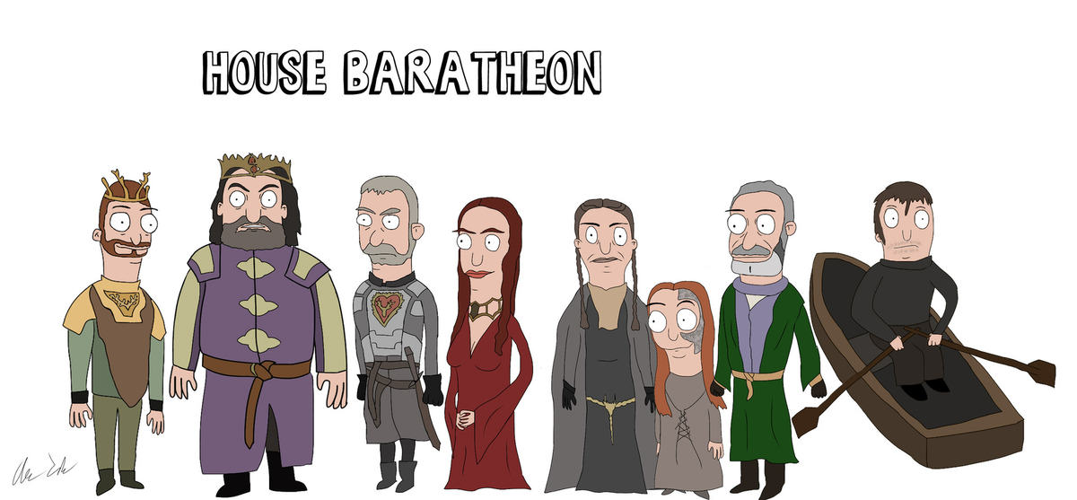 Someone Has Drawn Game Of Thrones Characters In The Style Of Bobs Burgers UNILAD burg46