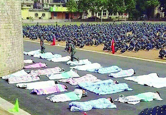 UNILAD chinathumb2 Chinese Students Forced To Sleep Under Thick Blankets In Sweltering Heat For What?