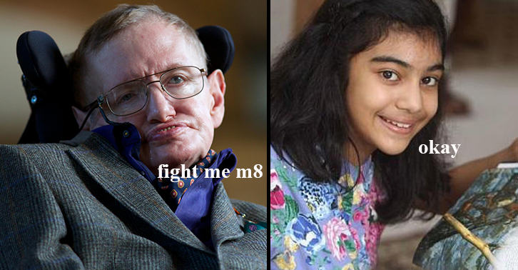 UNILAD fightme2 Girl, 12, Aces Mensa IQ Test, Beats Scores Of Einstein And Hawking