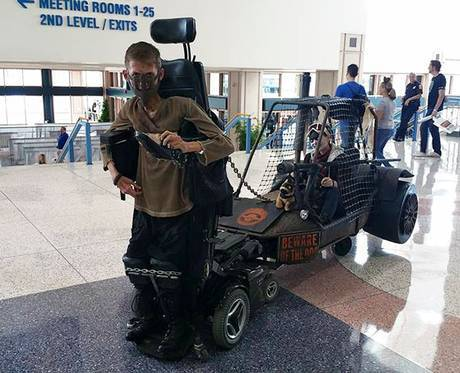 UNILAD mad max wheelchair cosplay bloodbag ben carpenter 13 Disabled Lad Turns His Wheelchair Into Badass Mad Max Cosplay