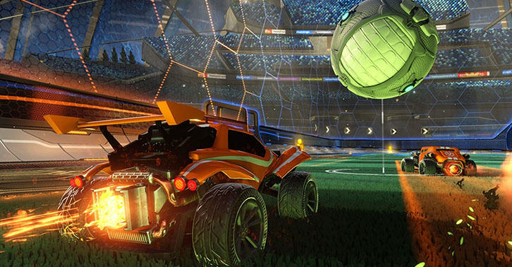 UNILAD rocket27 Real Football Commentators Dubbed Over Rocket League Is Stunning