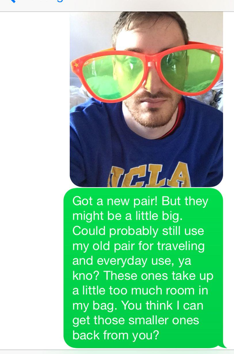 UNILAD sun202 This Guy Bombarded A Girl With Texts For A Year Asking For His Sunglasses Back