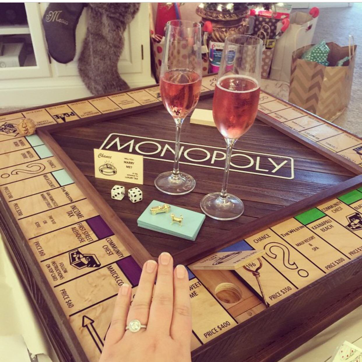 Guy Handcrafts Monopoly Board To Propose To His Girlfriend In An Amazing Way YES99