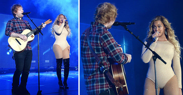 ed beyonce FB Beyoncé and Ed Sheeran Performed Drunk In Love Together In New York