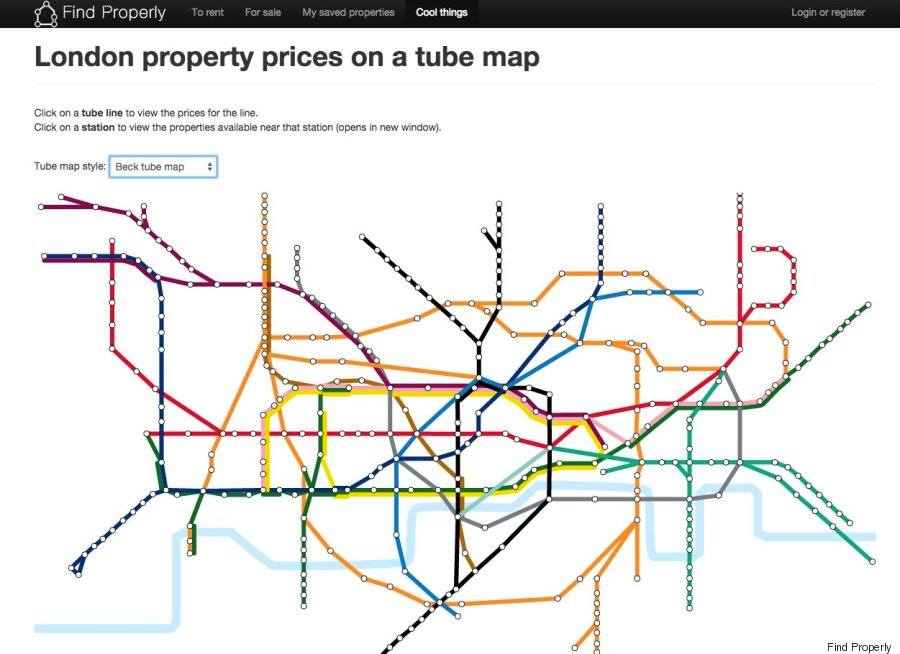 london prices 5 London Underground Rent Map Shows Cheapest And Most Expensive Places To Live In City