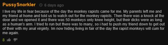 monkey rapist Pornhub Viewers Have Been Posting Really Bizarre Comments