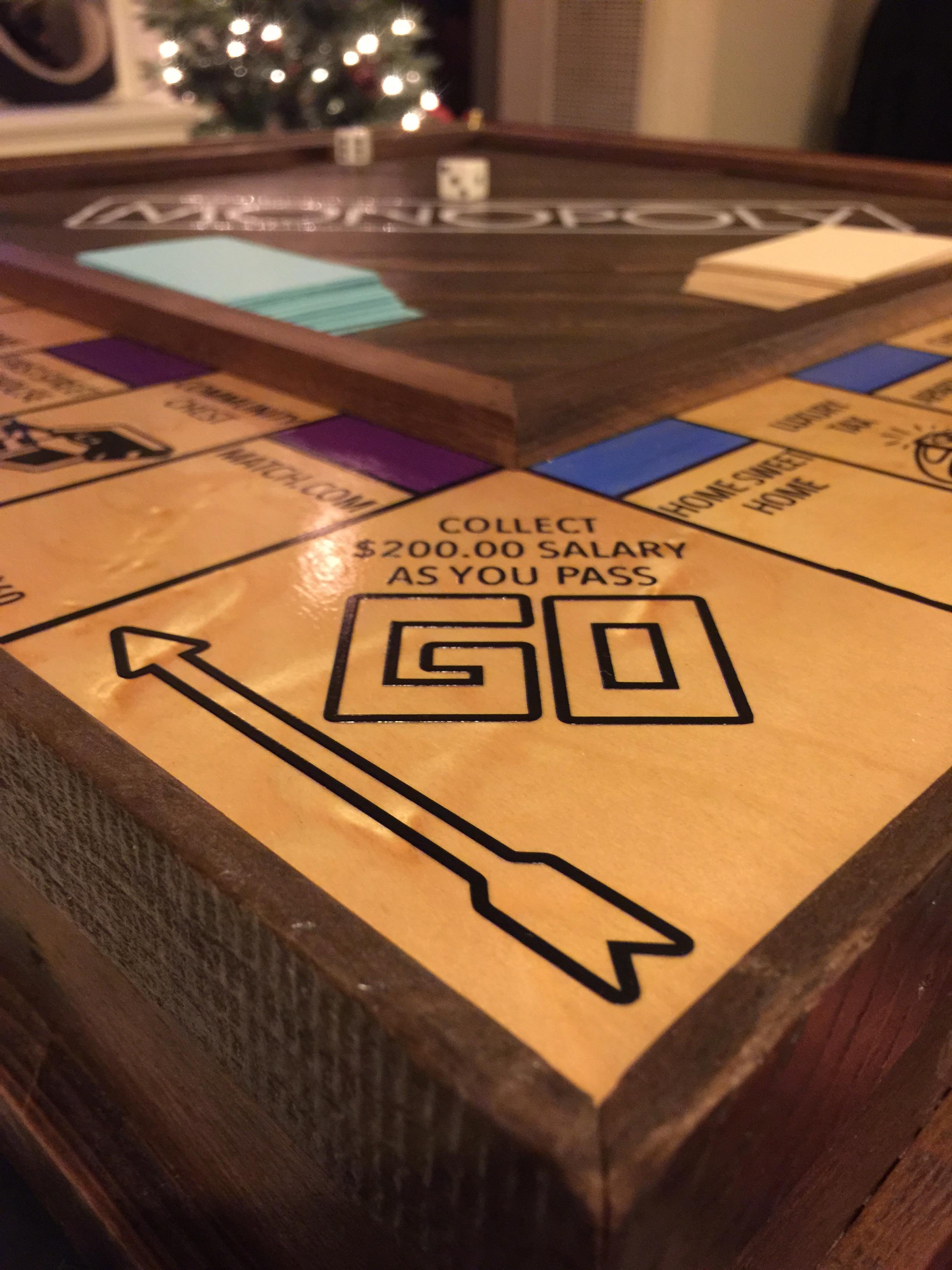 Guy Handcrafts Monopoly Board To Propose To His Girlfriend In An Amazing Way mono