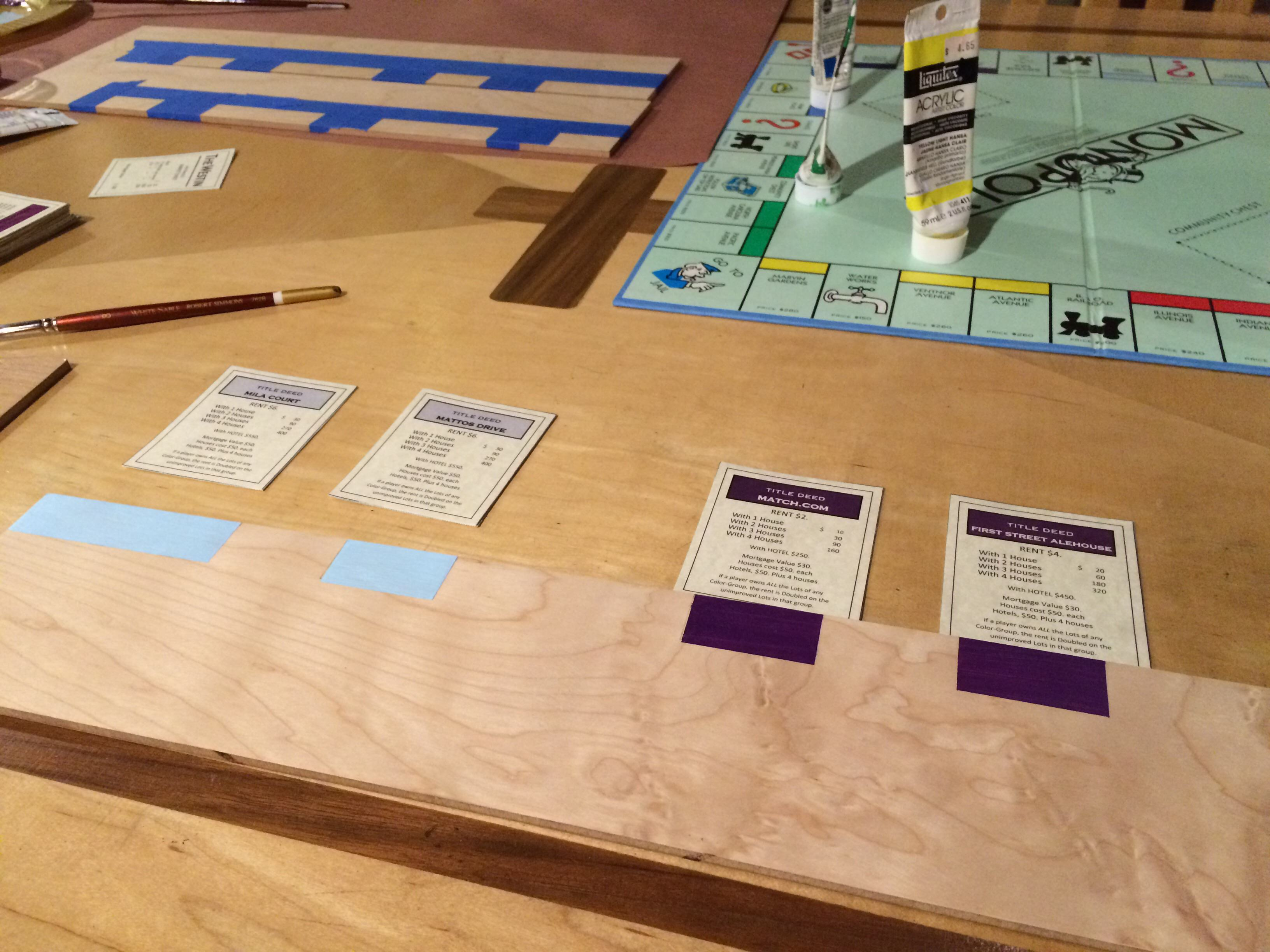 Guy Handcrafts Monopoly Board To Propose To His Girlfriend In An Amazing Way mono5