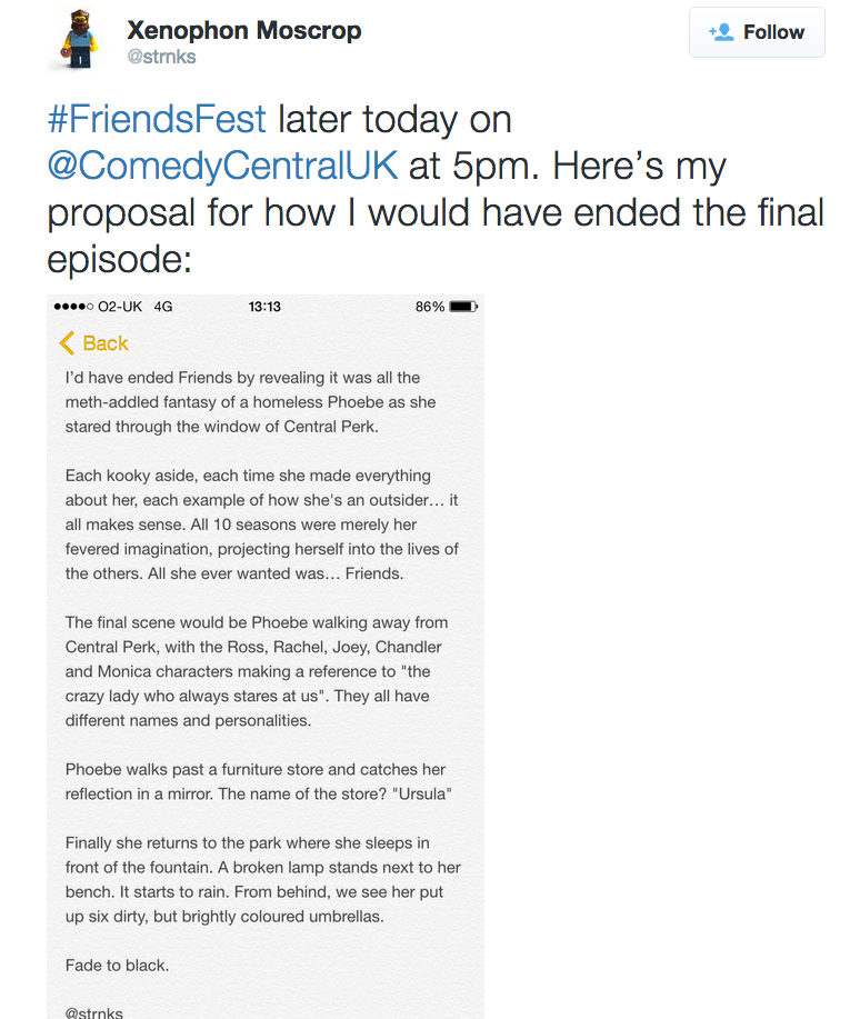 phoebe One Fan Theory About The Ending Of Friends Has Broken The Internet