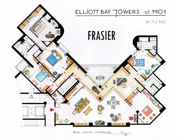 Someone Has Drawn The Floorplans Of Popular TV Show Apartments UNILAD Screen Shot 2015 10 04 at 20.19.336