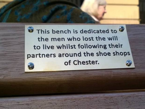 UNILAD ad 18475321490520 Council Remove Funny Spoof Plaques From Benches As They Might Offend People
