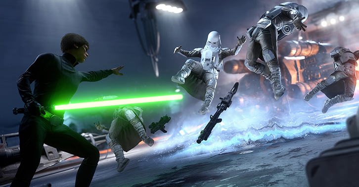 UNILAD battlefront47 New Battlefront Footage Shows Skywalker Killstreak and Hero Saber Clash