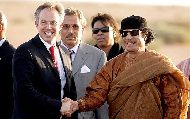 Leaked Email Shows Tony Blair Told Gaddafi To Hide And Avoid Capture UNILAD blairgadaffi 2634882b5