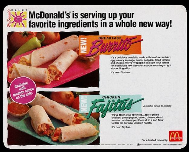 UNILAD burrito3 Discontinued McDonalds Food Items You Forgot Existed