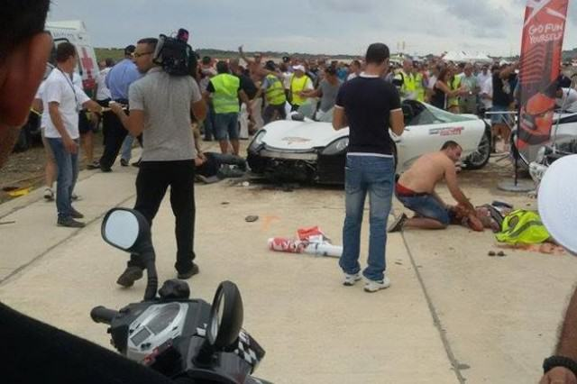 %name WATCH: British Millionaire Crashes Supercar Into Crowd And Injures 20 People