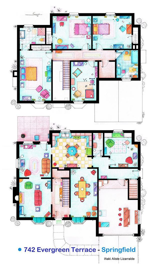 Someone Has Drawn The Floorplans Of Popular TV Show Apartments UNILAD floorplan26