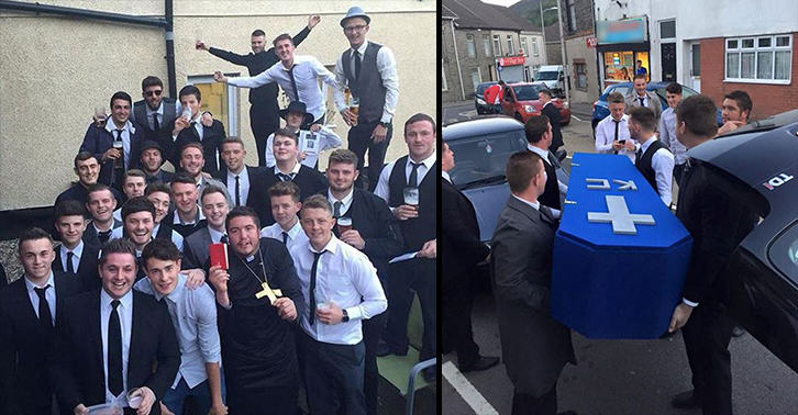 UNILAD mock funeral 4333697486 Lads Hold Surprise Funeral For Mate After He Gets Himself A Girlfriend