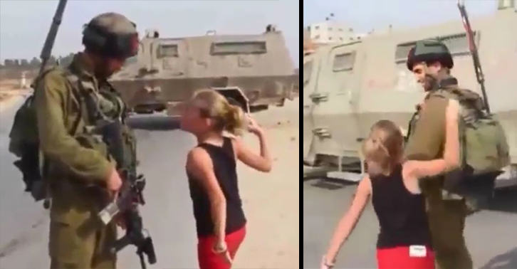 UNILAD palestine girl 717495576 Powerful Footage Shows Palestinian Girl, 10, Confronting Israeli Soldier