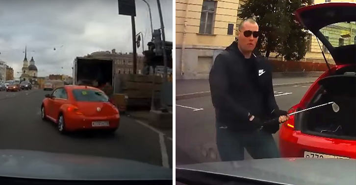 UNILAD russian road rage 4177293049 Angry Russian Driver Smashes Car Windscreen With Golf Club In Road Rage Incident