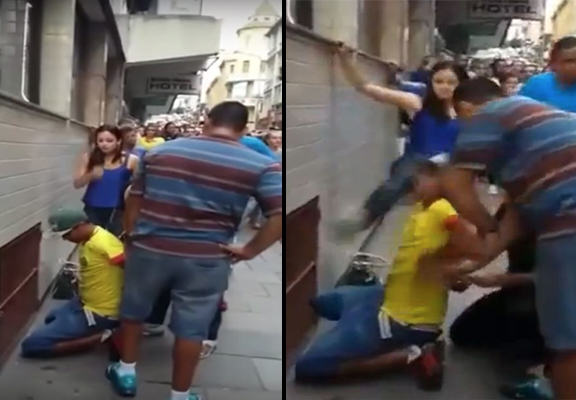 UNILAD thief kick WEB6 Suspected Thief Caught And Gets Swift Kick To The Face From Alleged Victim
