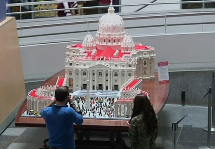 UNILAD vatican394772 Priest Builds Lego Vatican Using Half A Million Bricks