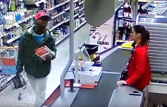 Thief Smirks As Walks Out Store Without Paying, Checkout Girl Has Other Ideas UNILAD youtube45409