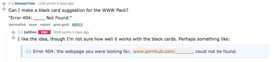 Screen Shot 2015 11 22 at 20.55.22 Cards Against Humanity AMA Delivers Hilarious Suggestions For New Cards