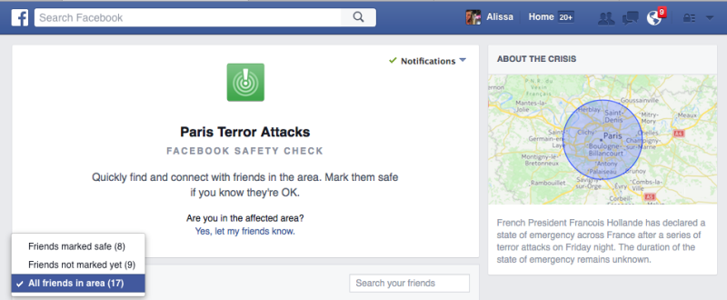 UNILAD 151780106927732560182795 Facebook Safety Check Feature Lets People Report They Are Safe In Paris