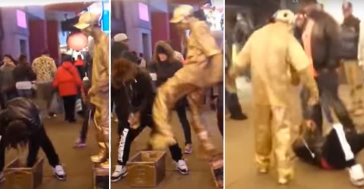UNILAD 50135Thumb 278720 Guy Tries To Steal Human Statues Money, Instantly Regrets It