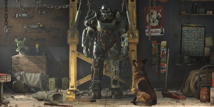 UNILAD Fallout 4 A Dog and His Power Armor 700x35085908 Heres How To Get Into Fallout 4s Secret Room Containing All Items