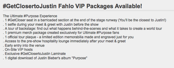 Fancy A VIP Selfie With Justin Bieber? It Will Only Cost Two Grand UNILAD Screen Shot 2015 11 16 at 16.38.017301