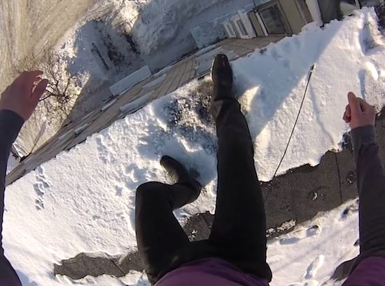 Russian Nutter Jumps Off Massive Building Into Snow, Because... Who Knows? UNILAD Snowj6670
