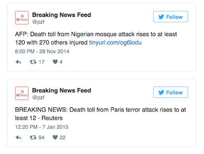 UNILAD TWEET385361 Twitter Account Tweeted About Paris Attacks Two Days Before They Happened