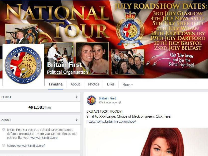 Britain First Call Facebook Fascist After Their Page Is Unpublished bf5