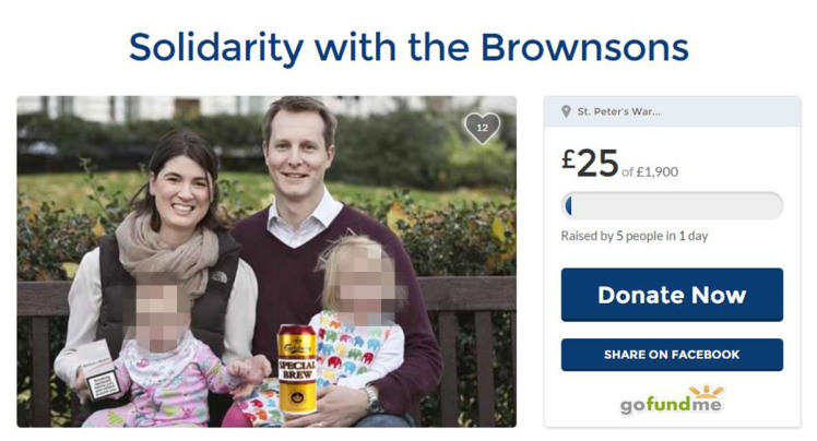 brownsons1 Wealthy Couple Moaned About Private School Fees, Pranksters Set Up Fundraising Account