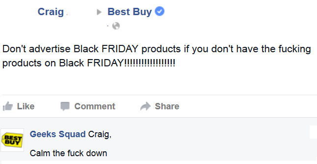 Pranksters Troll Black Friday Shoppers By Posing As Big Brand Customer Services comp8