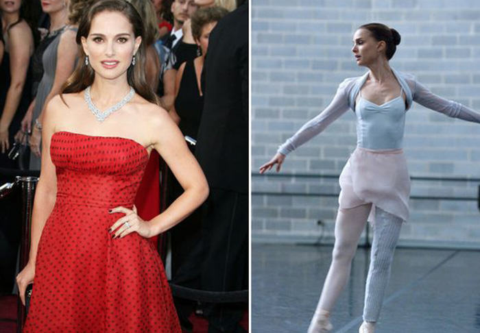The Five Most Extreme Celebrity Weight Losses and Gains natalie portman