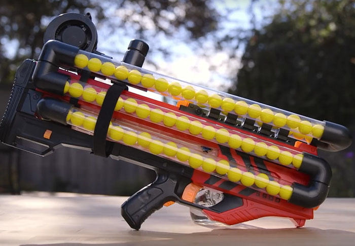 nerf3 Crazy Modified Nerf Gun Can Hold Over 100 Rounds Of Ammo At One Time