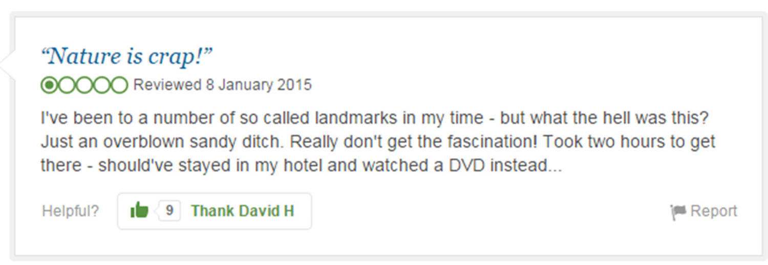 trip advisor review 1 Eight Of The Funniest Trip Advisor Reviews Of Worlds Most Famous Landmarks