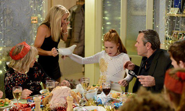 EastEnders spoilers  Bianca has a Christmas food fight with Terry s ex wife Nikki   first look pics