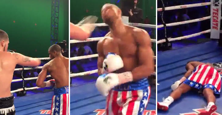 FaceThumb 8 Brutal Footage Shows Actor Michael B Jordan Get KOd During Training For Creed