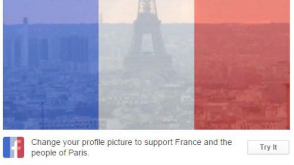 Facebook profile picture of French Flag shows support pic 2 When Social Media Is A Force For Good