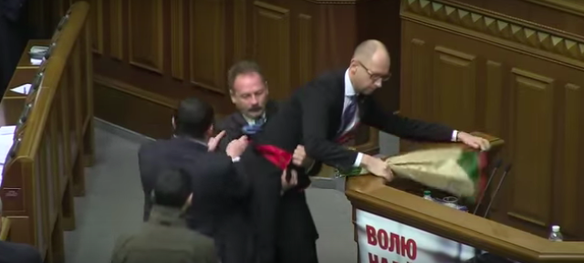 Screen Shot 2015 12 13 at 14.00.17 Politician Picks Up Ukrainian Prime Minister By Balls, Sparks Massive Fight In Parliament